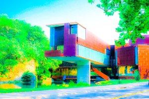 Art Center Saturated Modern